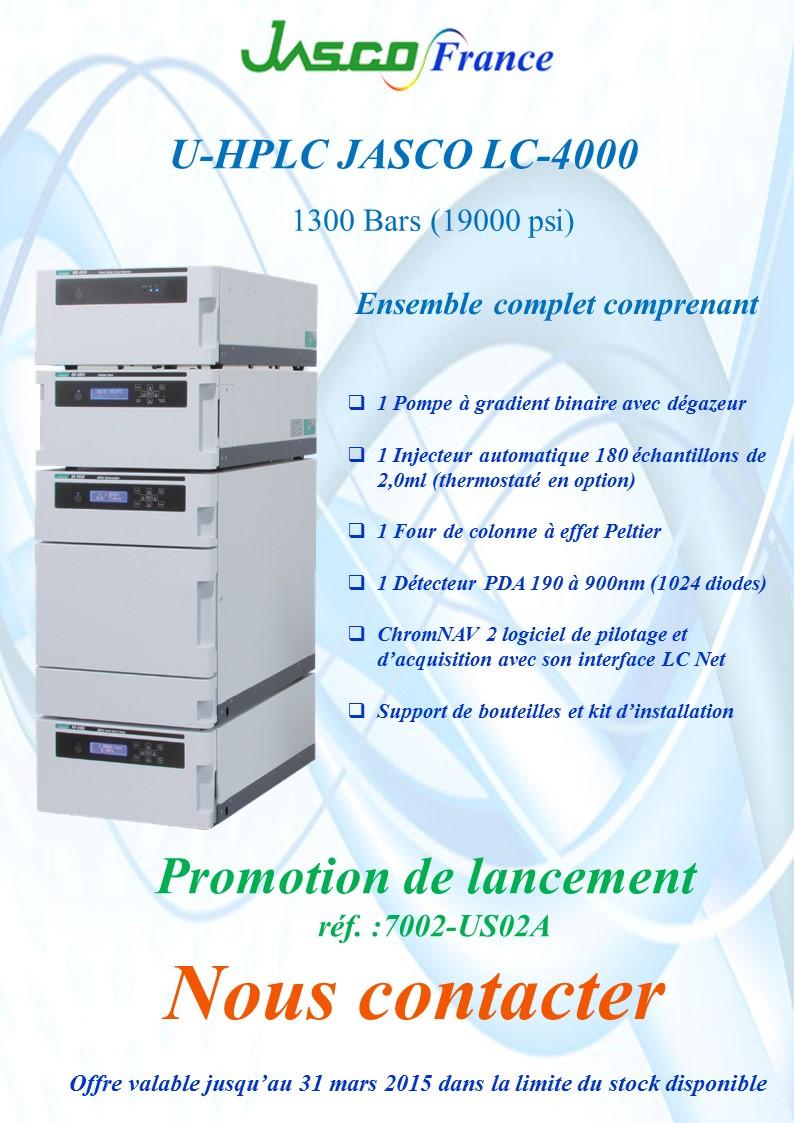 Offres spéciales chromatographie lancement HPLC LC-4000