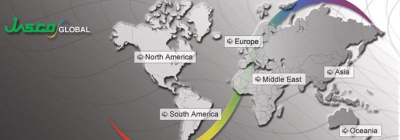 World map of Jasco in the World - Jasco dans le monde