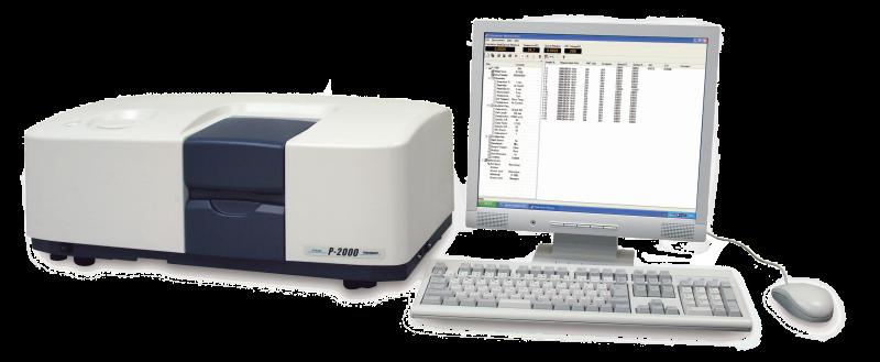 Polarimètre P-2000 branché sur PC