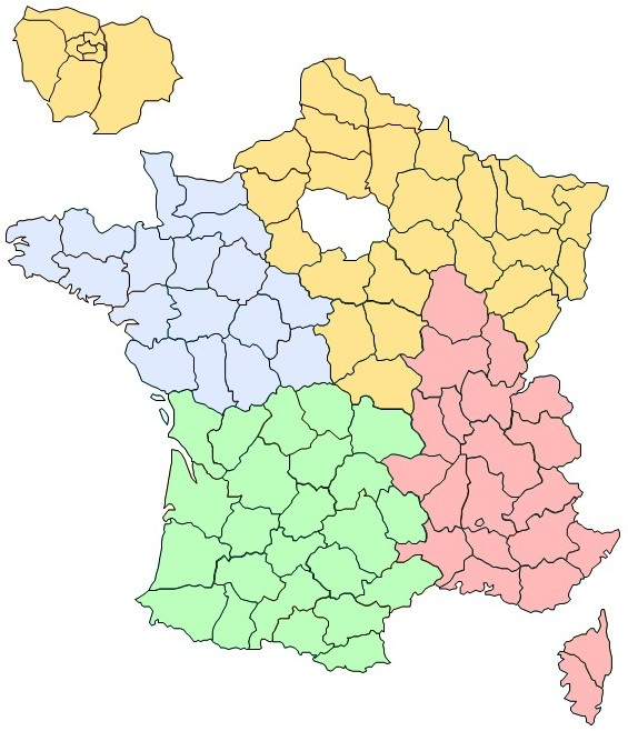 Service commercial par région (France)