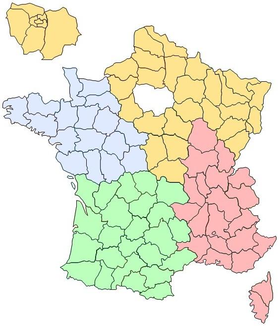 Service commercial par région (France)