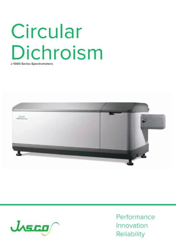 Brochure Dichroïsme circulaire JASCO