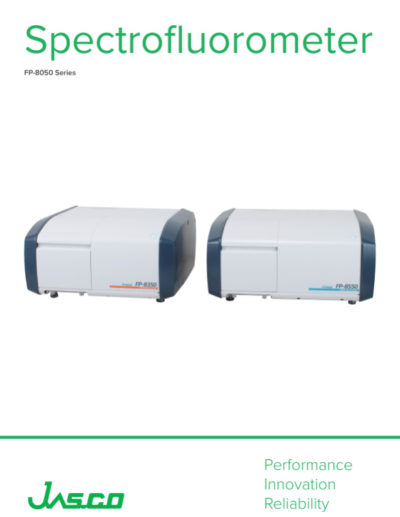 Brochure Jasco FP-8050 Series